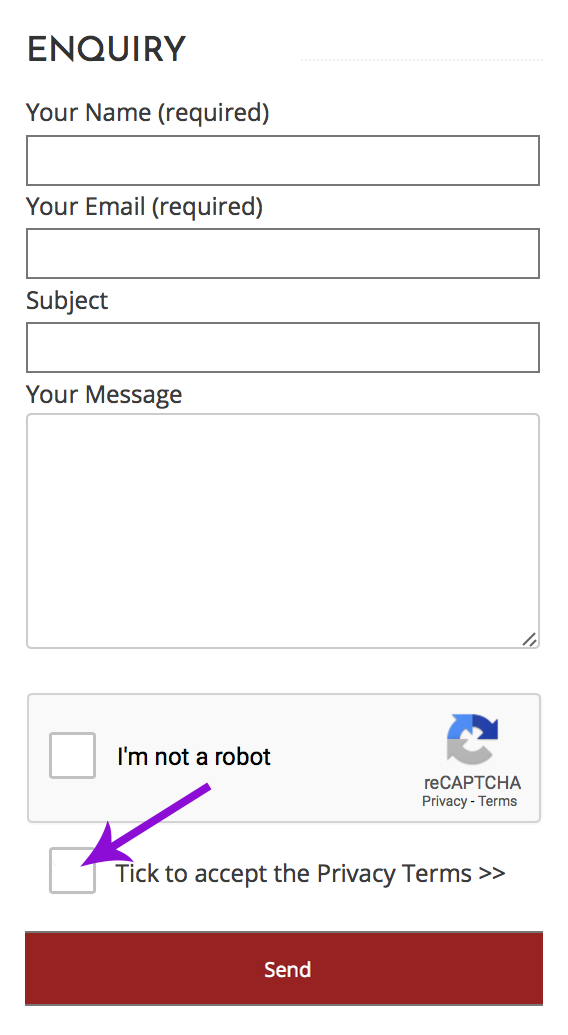 Contact Form Checkbox