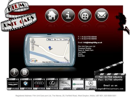 Sat Nav - site design page