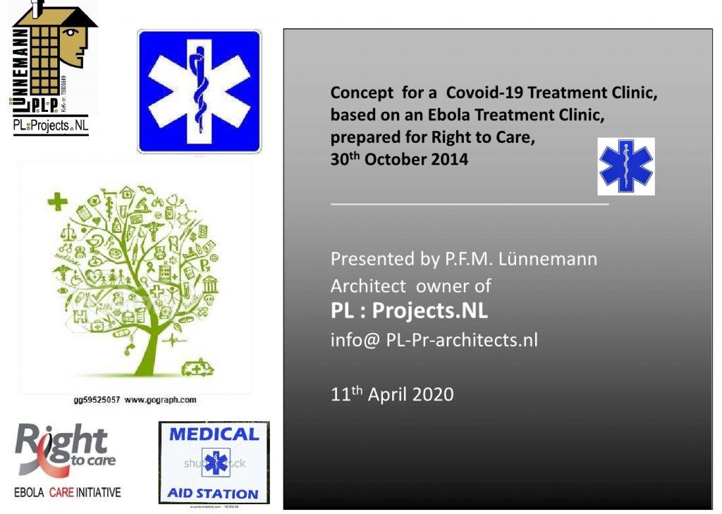 Corona Ebola nood kliniek April 20201