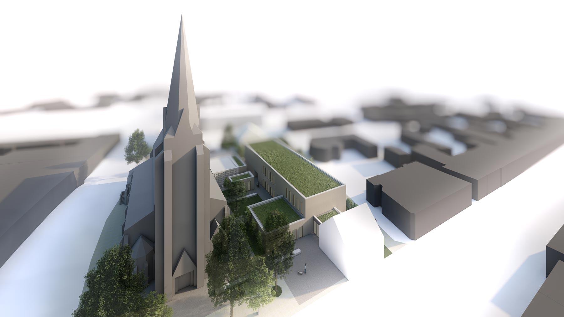 Kirchenanbau Meerbusch-Büderich