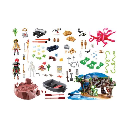 Playmobil julekalender 70322 skattejagt i piratbugten indhold