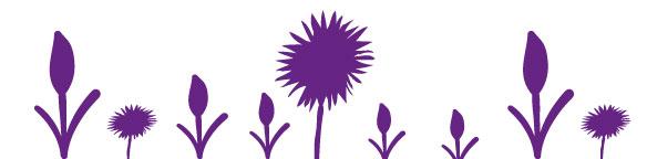 Blomster silluet