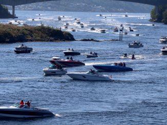 Det kryr av båter på Byfjorden