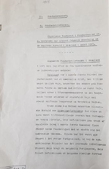 I Inspektoratsarkivet i Nunatta Katersugaasivia Allagaateqarfialu (NKA) finder man arkivserier fra lægevæsenet. De fortæller om den daglige drift af lægevæsenet og det sundhedssyn, der prægede koloniadministrationen i forsøget på at bremse epidemier og højne folkesundheden. Boligforhold, ernæring, epidemier og vaccination var blandt de emner, der var i fokus – også dengang. I dag finder vi oplysninger om, hvordan koloniseringen ændrede levevilkårene, og ved at det også ændrede det mikrobiologiske liv i og omkring mennesker (Inge Høst Seiding).