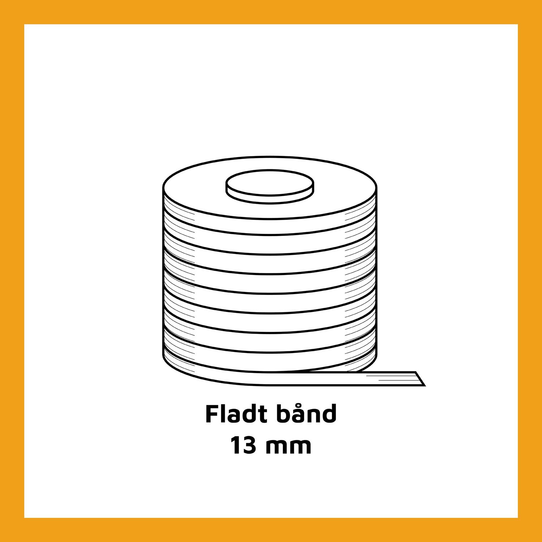 Fladt bånd - 13 mm