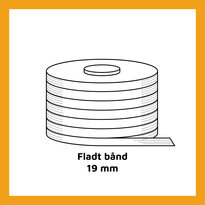 Fladt bånd - 19mm