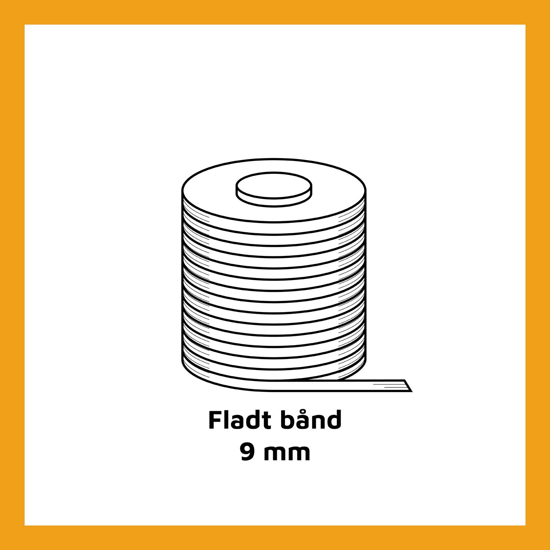 Fladt bånd - 9 mm