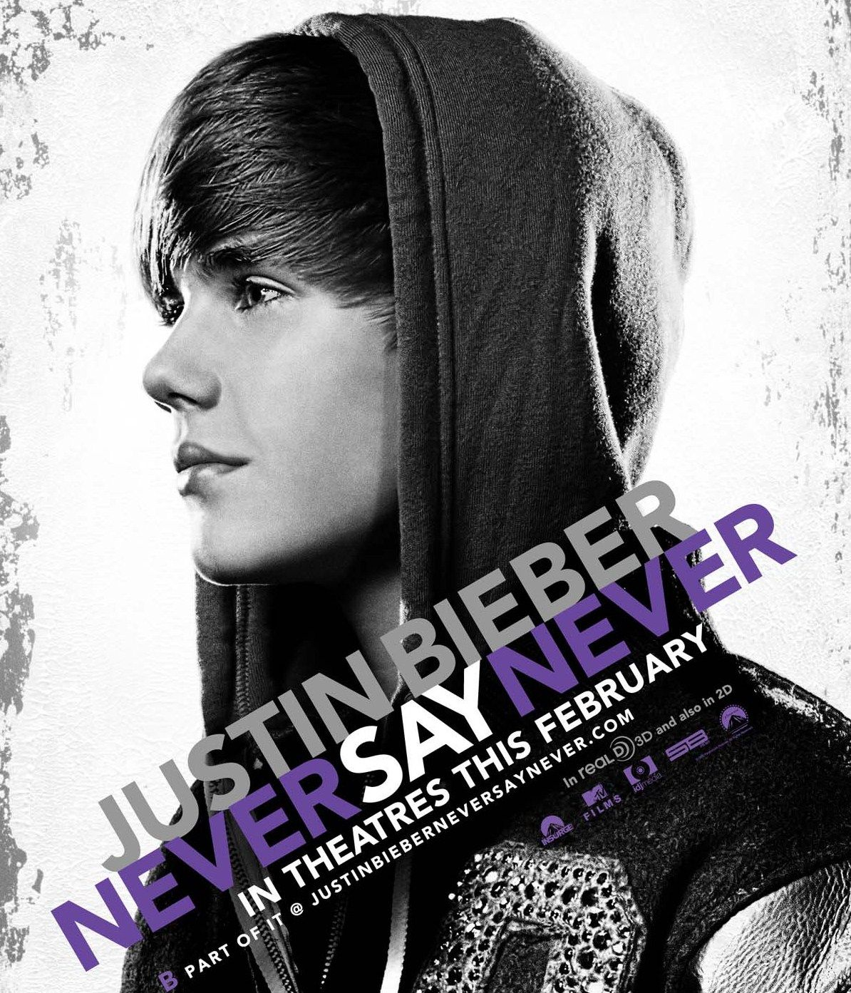 JUSTIN BIEBER NEVER SAY NEVER movie poster 1