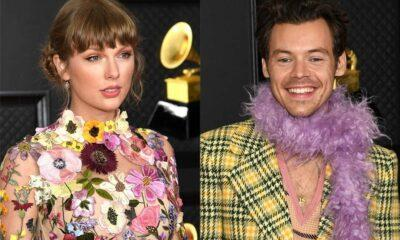 taylor swift e harry styles se encontram grammy 2021 e1615814212751