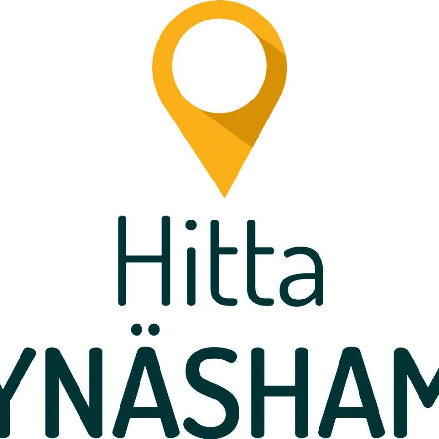 Hitta Nynäshamn-Logo stående