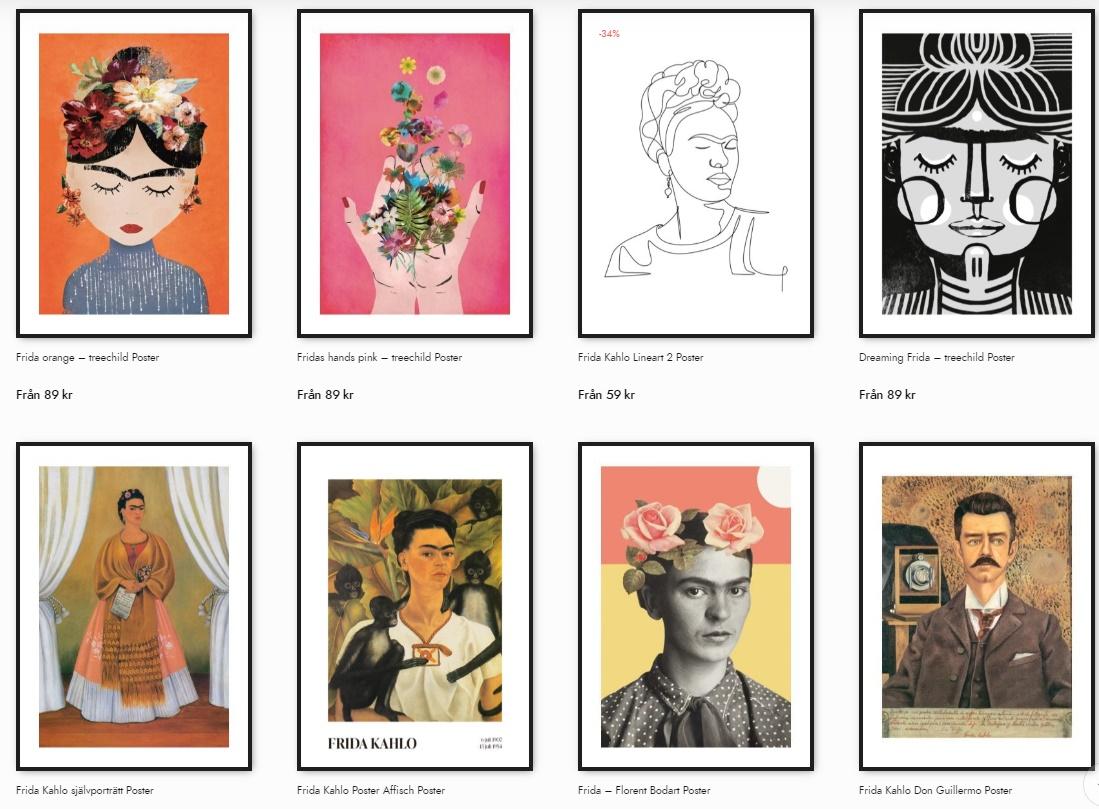 Frida Kahlo Poster Kollektion