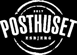 Posthuset logo i hvid