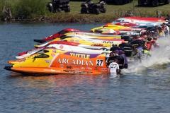 F1 Race start with a starting field of 22 boats Photo paulkemielphotographics.com