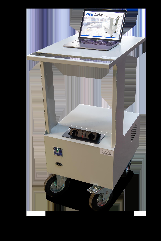 Mobiele power trolley, werkplekken, magazijn werkstations, werkplek, laptopkar, printerkar, printertrolley