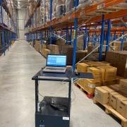 mobiele werkplek trolley, mobiele werkplek trolley voor in het magazijn / warehouse mobiel werkstation, werkplek logistieke hardware flexibel, Mobiele werkplek voor onafhankelijk werken laptop