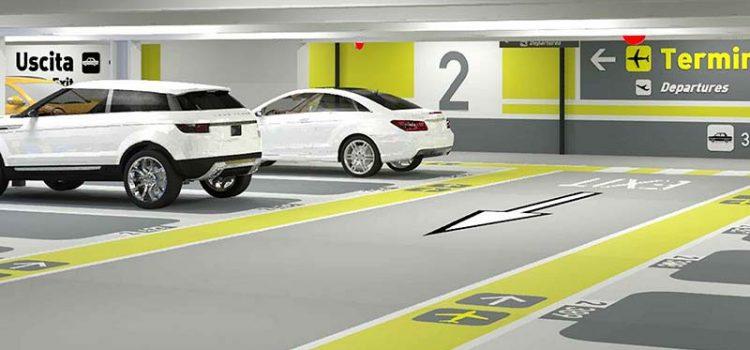 Parcheggio dell'aeroporto di Linate: la riqualificazione è targata Triflex