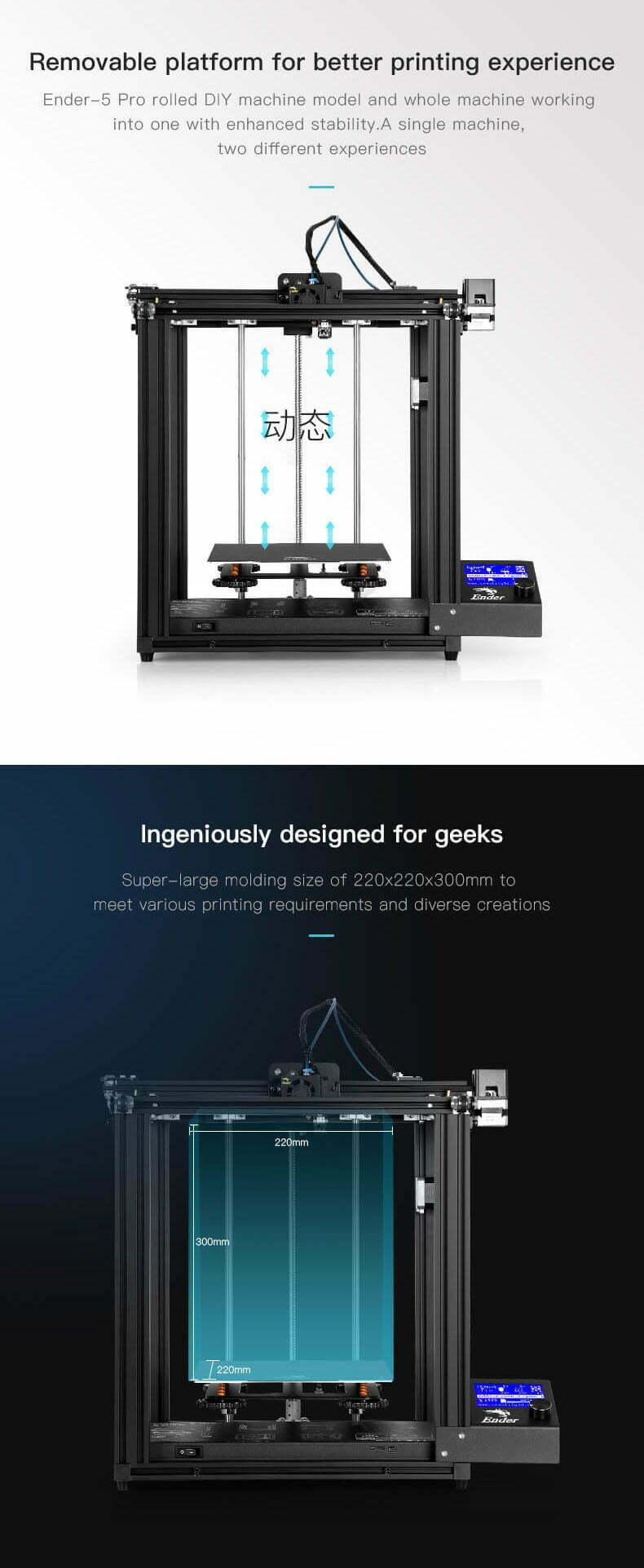 Genialt design af Ender-5 Pro