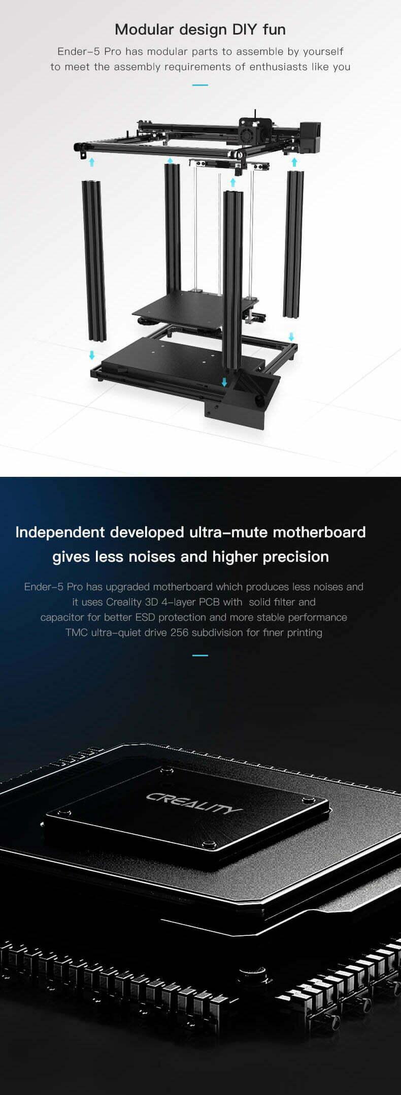 Det er nemt at samle denne lydsvage 3D-printer