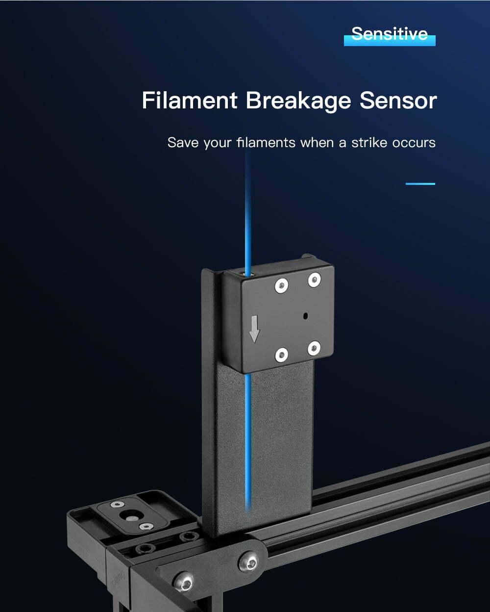 CR-10 V3 filament sensor