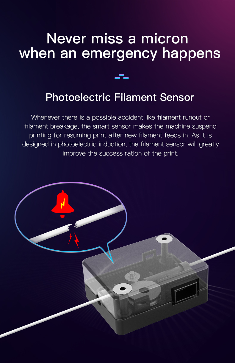 Fotoelektrisk filament sensor