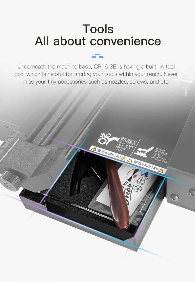 3D printer med integreret værktøjskasse
