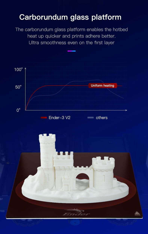 Ender-3 V2 glas platform