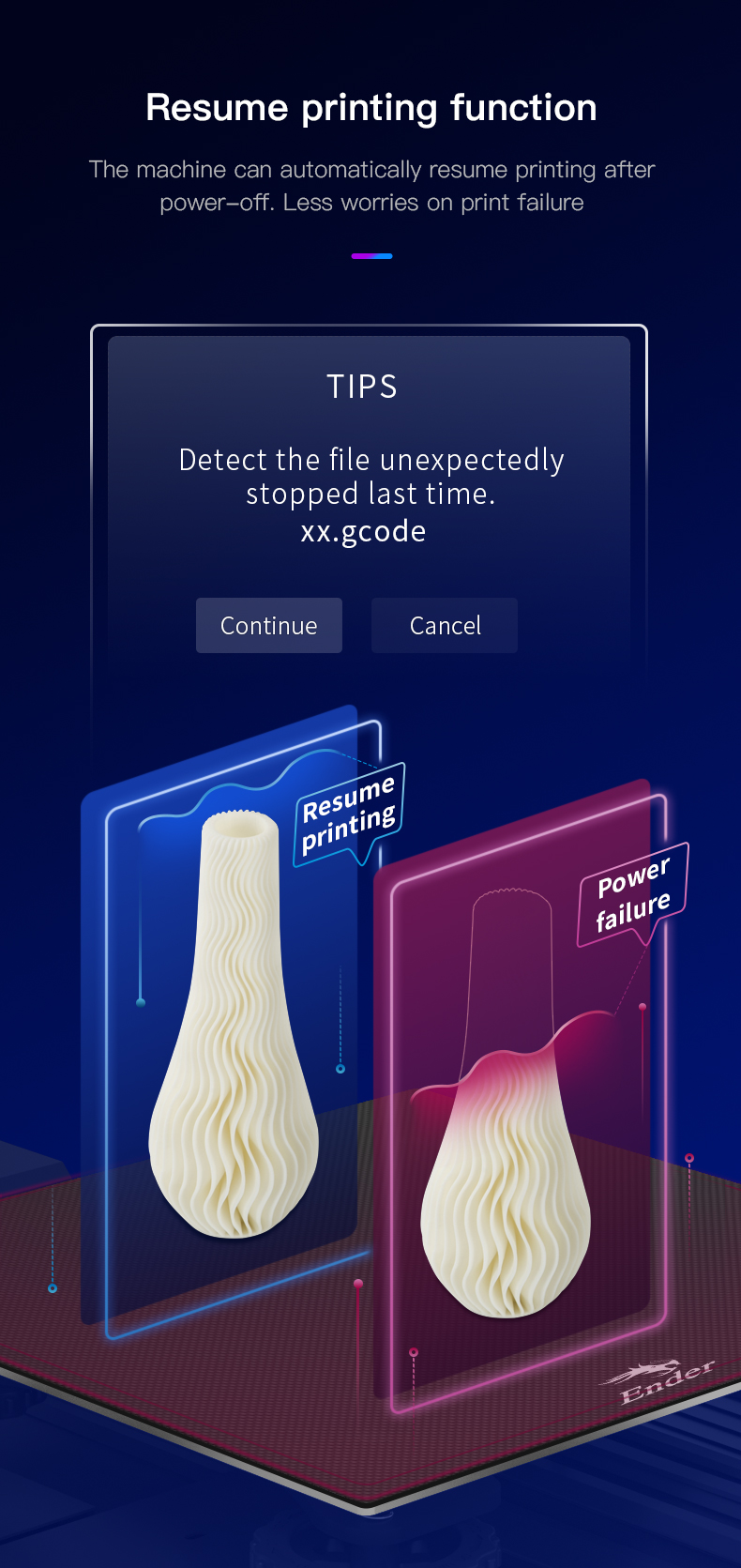 Ender-3 V2 genoptag print