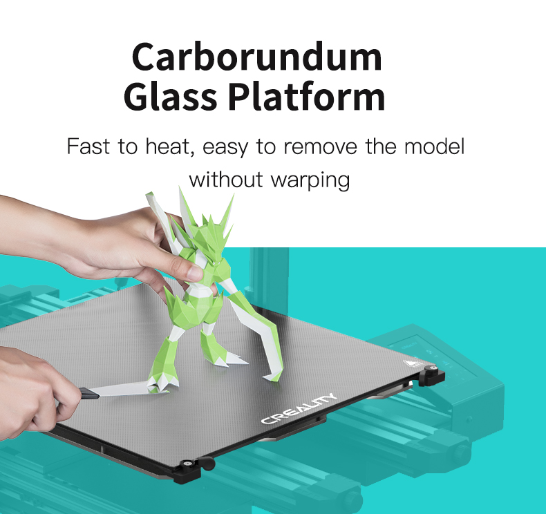 Creality CR-6 Max glas bed