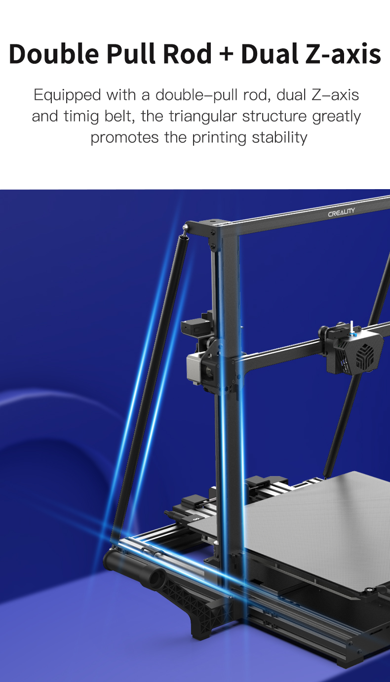 Creality CR-6 Max 3D printer afstivning