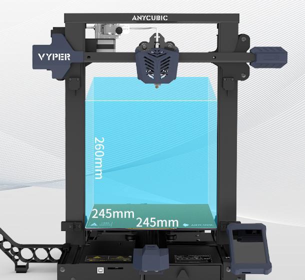 Anycubic Vyper størrelse