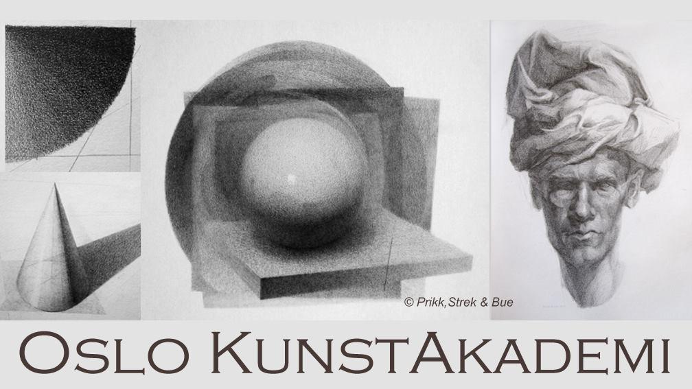 Helgekurs med fordypning i frihåndstegning ved Oslo Kunstakademi