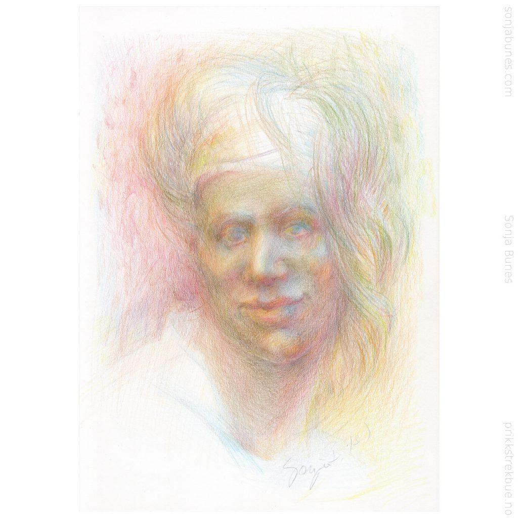 A4folk. Sonja Bunes. insecure Hope. Fargeblyanter på papir. A4. 2020.