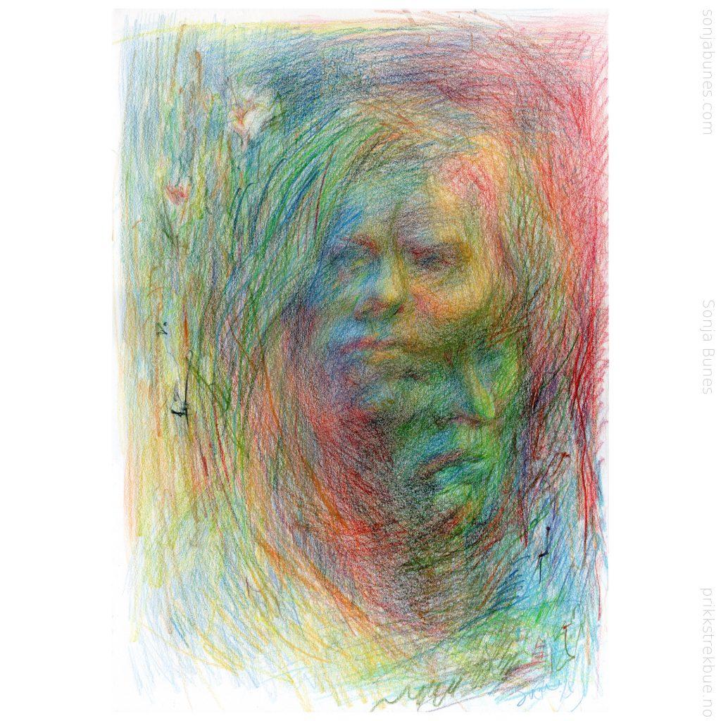 Sonja Bunes 2020 Breaking Free A3 Fargeblyanttegning