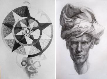 Blyanttegninger av Sonja Bunes. A5. 2011