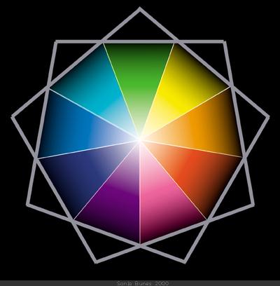 SonjaBunes digital illustrasjon fra 2000 Det fargerike feltet mellom svart og hvitt 5