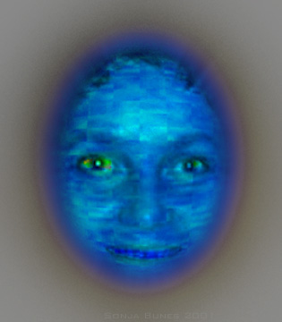 Sonja Bunes 2001 Alternative Selves, blue depression