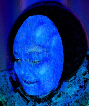 Sonja Bunes 2001 Alternative Selves, blue face