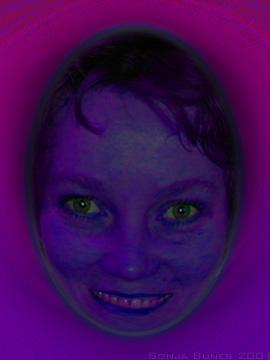 Sonja Bunes 2001 Alternative Selves, purple smile