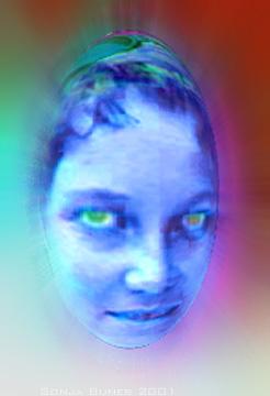 Sonja Bunes 2001 Alternative Selves, sure blue