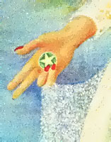 The Bride Sonja Bunes 1999 oil painting symbolism detail