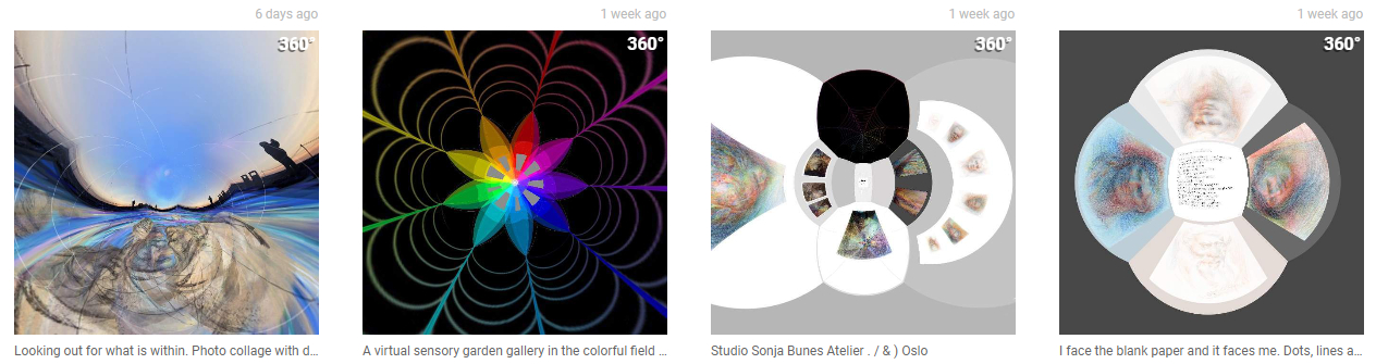 Sonja Bunes sin spede start på 360 panorama bilder