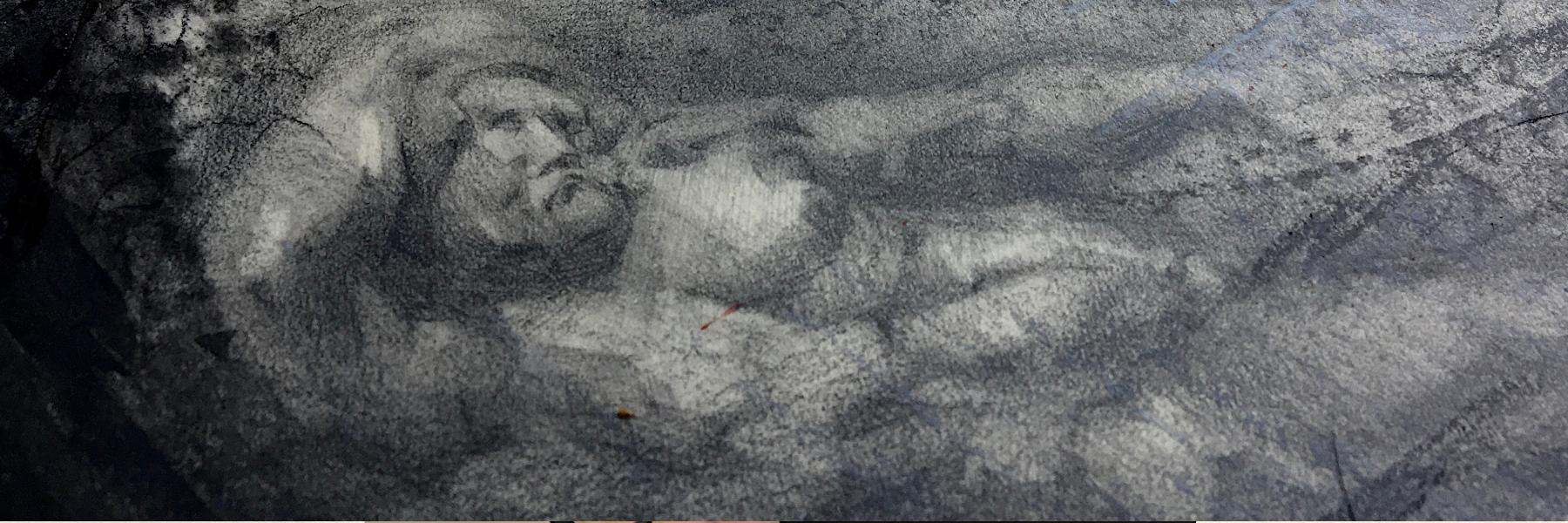 Sonja Bunes Kollasj av tanker og tegning