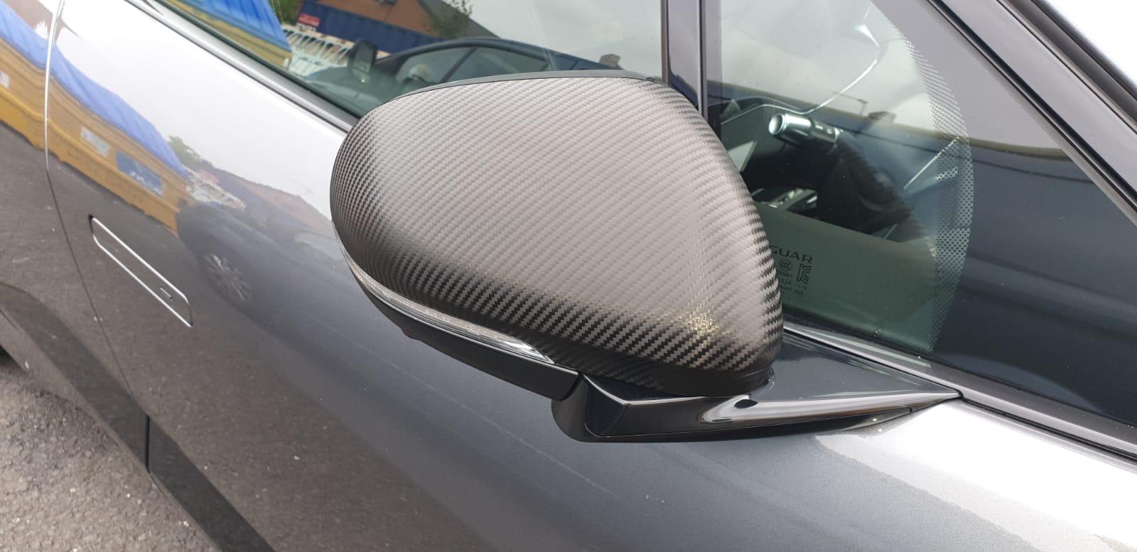 wingmirrors car wrap carbon fibre wing mirrors
