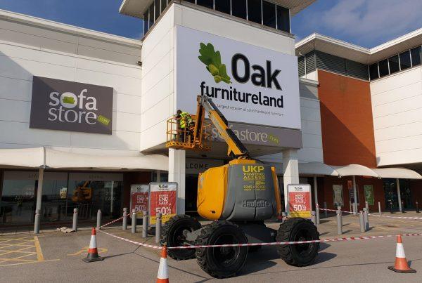 External Signage Oak Furnitureland | Principle Signs & Graphics