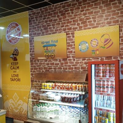 restaurant signage and graphics
