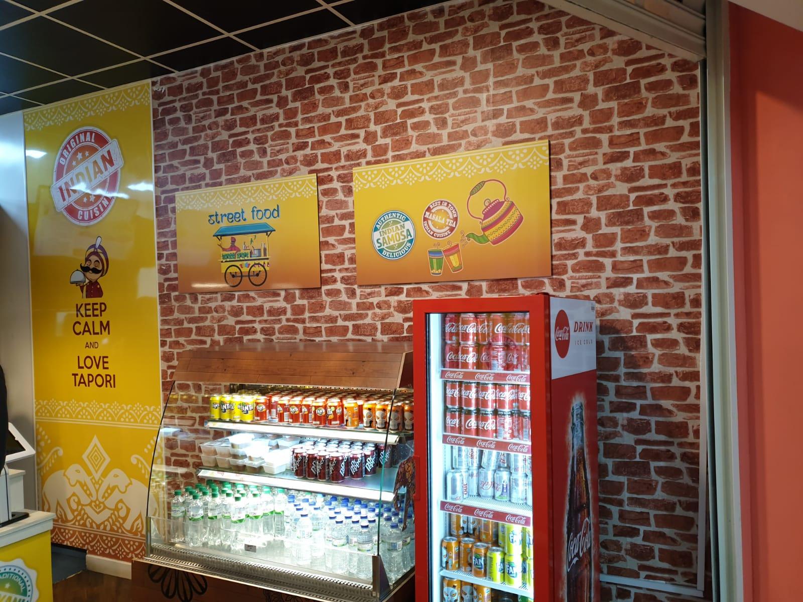 Restaurant graphics and signage