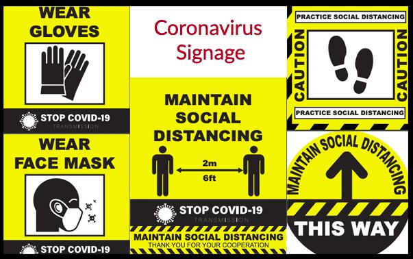 Coronavirus signage