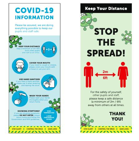 Covid signage sneeze screen