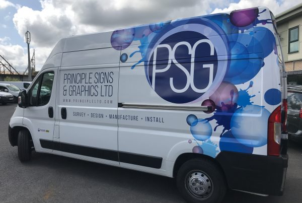 Van wrap signage and graphics