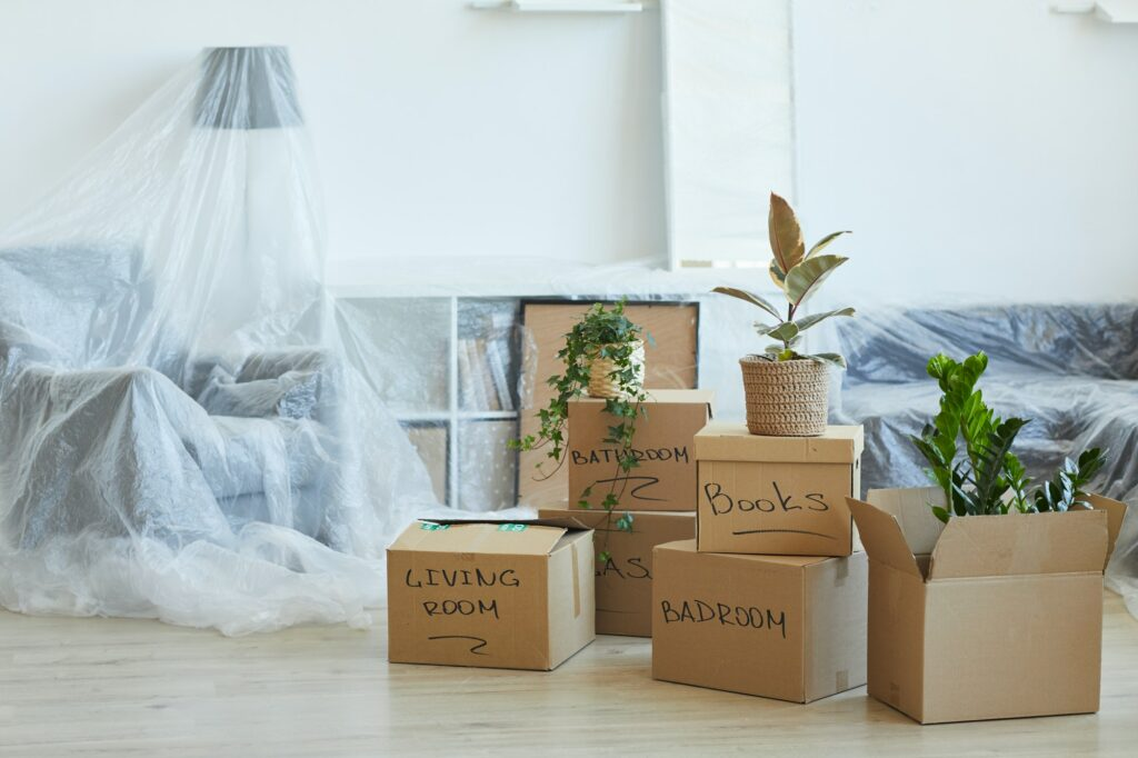 Boxes in the apartment